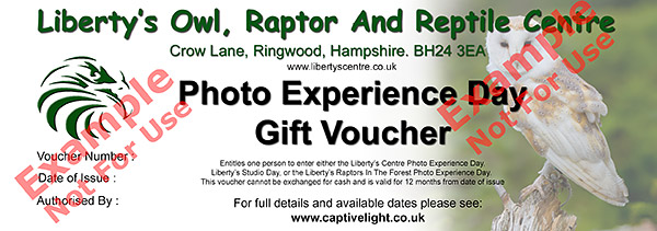 Photo Day Gift voucher